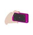 taking photo on smartphone symbol flat isometric vector image vector image