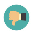 thumb down symbol finger down icon vector image
