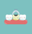 to take decayed tooth out teeth and tooth concept vector image vector image
