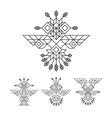 tribal owl symbol ornate owl symbol line art