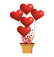 valentines day heart cartoon vector image vector image