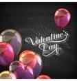 Valentines Day retro label on the blackboard vector image vector image