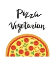 Vegetarian Pizza and hand vector image vector image