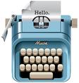 Vintage mechanical desktop typewriter vector image vector image