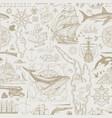 vintage seamless pattern on theme sea travel vector image vector image