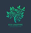 ayurvedic spa design symbol green tree vector image