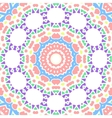 Geometrical seamless color flowers circles vector image