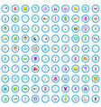 100 beauty salon icons set cartoon style vector image vector image