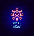 2019 ncov neon label vector image