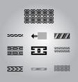 african cultural symbolic ornaments set vector image vector image