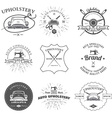 Auto Upholstery Vintage Badges and Labels vector image vector image