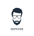 avatar of a hipster head with glasses vector image vector image