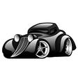 Black Classic Street Rod vector image vector image