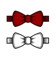 Bow Tie Icons Set Red and White vector image vector image