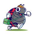 cartoon cute ladybugs carrying school bag