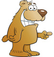 Cartoon Pointing Bear vector image vector image