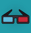 cinema 3d glasses entertainment icon vector image