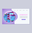 city future web template amazing alien vector image vector image