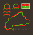 Colors of Burkina Faso vector image vector image