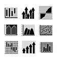 creative infographics glyph icons vector image vector image