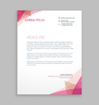 creative letterhead stationary vector image vector image