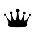 crown treasure kingdom majestic luxury icon vector image