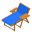 deck chair icon isometric style