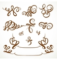 Decorative calligraphic flourishes on a white vector image vector image