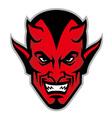 devil head mascot vector image vector image