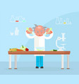 diet researching concept vector image vector image