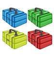 different tool box on white background vector image vector image