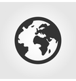 Earth globe icon flat design vector image vector image