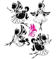 fairy silhouettes vector image vector image