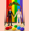 gay couple wedding vector image