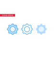 gear setting icon in line outline filled outline vector image