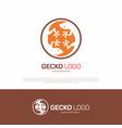 gecko lizard logo design vector image
