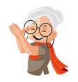 grandmother vector image