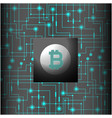 green network connection bitcoin cryptocurrency ve vector image vector image
