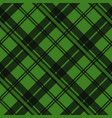 green tartan fabric texture in a square pattern vector image
