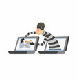 hacker stealing password - cartoon people vector image