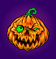 halloween jack o lantern carving zombie pumpkins vector image vector image