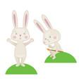 happy easter rabbit vector image vector image