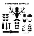 Hipster accessory pictograms collection vector image vector image