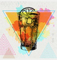 hipster cocktail long island vector image vector image