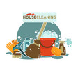 house cleaning service promotional emblem isolated vector image