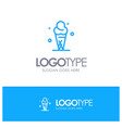 ice cream cream ice cone blue outline logo with vector image