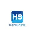 initial hs letter logo design vector image vector image