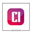 initial letter ci logo template design vector image vector image