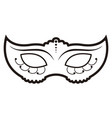 isolated carnival mask icon vector image
