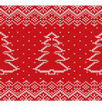 knit christmas geometric ornament design with vector image vector image
